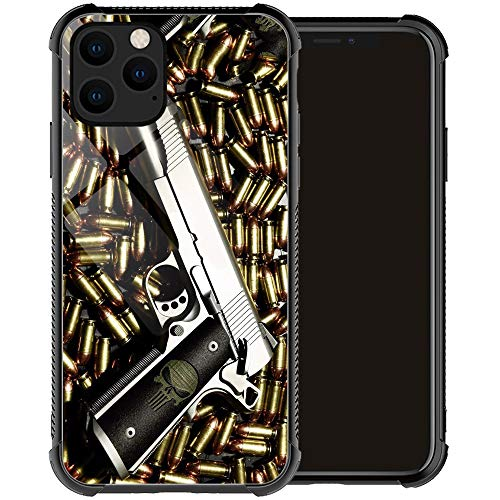 Compatible with iPhone 12 Pro Max Case,Bullet Stack Gun Weapon iPhone 12 Pro Max Cases for Men Boy,Drop Protection Cool Pattern with Soft TPU Bumper Case for Apple iPhone 12 Pro Max Case 6.7-inch