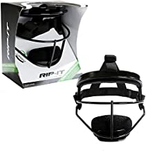 RIP-IT Defense Pro – The Ultimate Softball Fielder's Mask – Lightweight Protection with Uninhibited Visibility, Performance, and Blackout Technology – Black – Adult