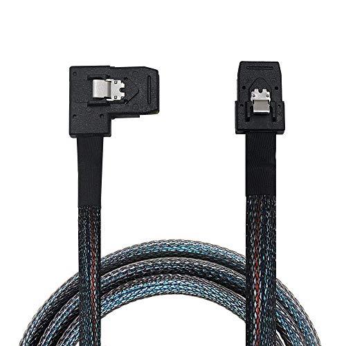 OIKWAN Internal Mini SAS SFF-8087 to Right Angle SFF-8087, Internal Mini SAS to Mini SAS Cable, Compatible with RAID or PCI Express Controller(32 inch/0.8M)