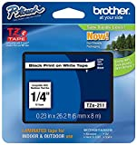 Brother Genuine P-touch TZE-211 Label Tape 1, 1/4'...