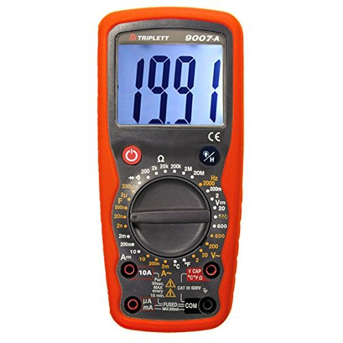 Triplett 9007-A High Performance Digital Multimeter with Temperature, Frequency and DATA Hold Function, 30 Measurement Ranges (Renewed)