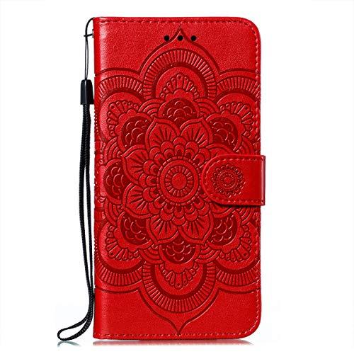 Hülle für Samsung Galaxy M51 Hülle Handyhülle [Standfunktion] [Kartenfach] Schutzhülle lederhülle klapphülle für Galaxy M51 - DEEB010398 Rot