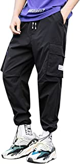 ZhixiaYS Casual Pants for Men, Men's Fashion Overalls Comfortable Drawstring Pants Trousers