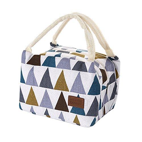 HWTOP Zubehör Lunchpaket Kühltasche Kühlbox Isoliertasche Lunchtasche Mittagessen Tasche Picknicktasche für Lebensmitteltransport Arbeit Picknick