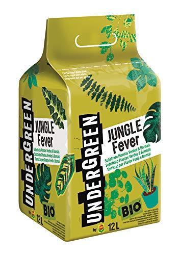 Fiebre de la selva de undergreen, suelo para plantas verdes y bonsái, permitido en la agricultura orgánica, 12 l