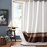 GASIYU Aubrey Waterproof Fabric Shower Curtain,Printed Shower Curtain for Bathroom,Polyester Bathroom Curtains,72' W x 78' H