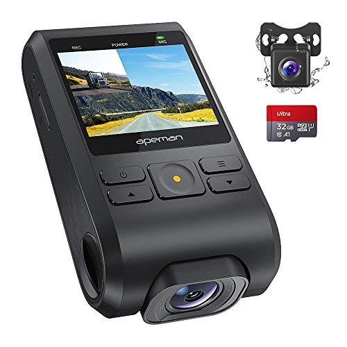 APEMAN Dash Cam FHD 1080P Car Camera with Metal Design,2.0 inch LCD Screen,170° Wide Angle,Night...