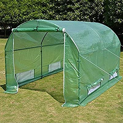 BenefitUSA 10'x7'x6' Walk in Outdoor Canopy Gazebo Plant Gardening (Frame Does Not Included) Greenhouse Replacement Cover