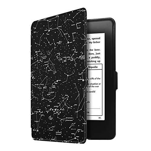 Capa para Kindle Paperwhite (até 2018) - Fecho Magnético - Aciona o descanso - Constelação