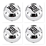 xd series chrome - 4 Pack KMC XD Series 464K131-2 8 Lug Chrome Wheel Center Cap