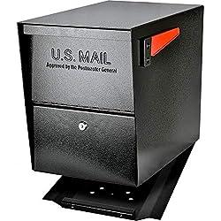 top 10 secure mailboxes Sidewalk is locked MailBoss7206 Main Mailbox | Black, Medium