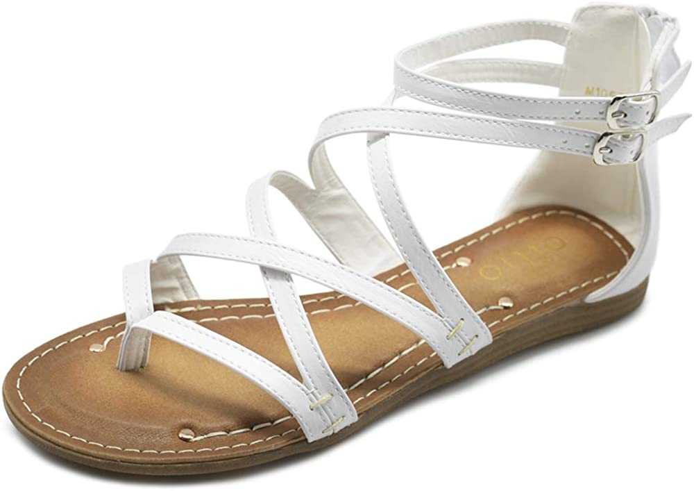 Ollio Women's Shoe Jacksonville Mall Gladiator low-pricing Sandal Flat Zori Strap