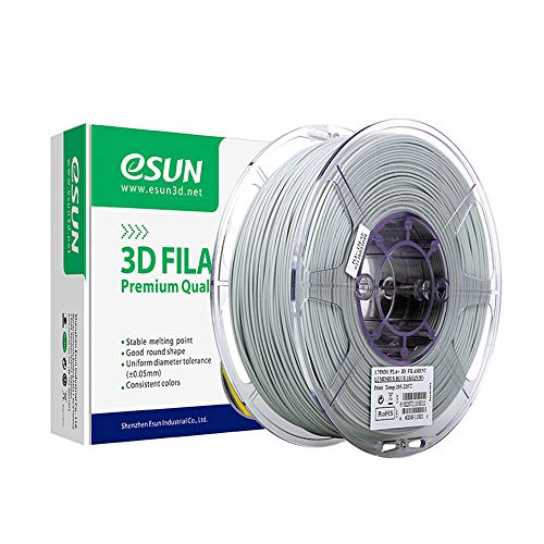 eSUN PLA Plus Filamento de Impresora 3D, Glow in the Dark Filamento PLA+ 1.75mm, Precisión Dimensional +/- 0.03mm, 2.2 LBS (1KG) de Carrete Materiales de Impresión 3D de Filamento, Azul Luminoso