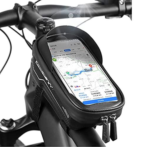 GRAFTS - Bolsa de marco para bicicleta o bicicleta de montaña impermeable, con pantalla táctil y soporte para teléfono móvil de hasta 7 pulgadas