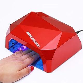 SHJMANPA Lámpara Uñas Secador de Uñas Lámpara LED Profesional Maquillaje Uñas para Gel con Temporizador Profesional de con Sensor Inteligente de Mano Sin Ennegrecimiento, Red