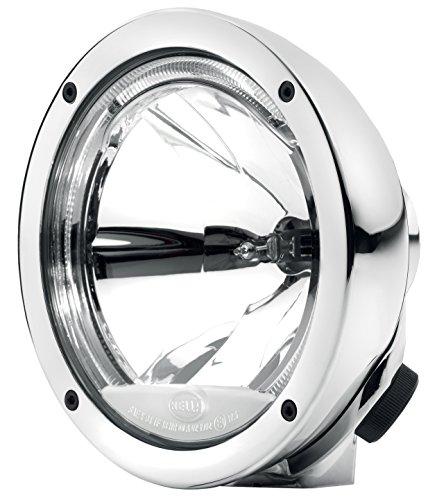 HELLA 1F1 009 094-091 Fernscheinwerfer - Luminator Compact - H1 - 12V/24V - rund - Ref. 17,5 - glasklare Streuscheibe - Anbau - Einbauort: links/rechts