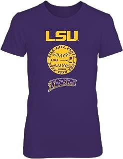 FanPrint LSU Tigers T-Shirt - Softball - Rise Ball Ready