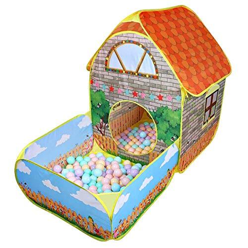 Kinderen kinderen pop-up tenten, huis met binnentuin kruipende opvouwbare tent, huis jongens meisjes spelen tent ballenbad kinderen cadeau