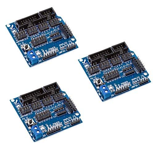 HiLetgo Arduino Sensor Shield V5.0 Sensor Erweiterungsplatine für Arduino UNO R3, 3 Stück