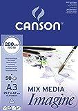 Canson 200006007 - Carta da disegno, formato A3, 200 g, blocco da 50 fogli