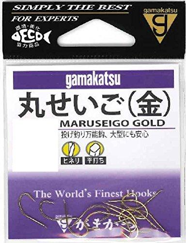 がまかつ(Gamakatsu) 丸セイゴ フック 金 16号 釣り針