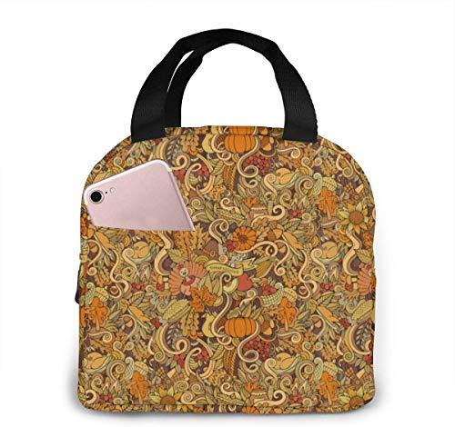 Lunch Bag, isolierte Lunch-Einkaufstasche, tragbare isolierte Lunch-Taschen-Handtaschen zum Erntedankfest - Schularbeitsreisen