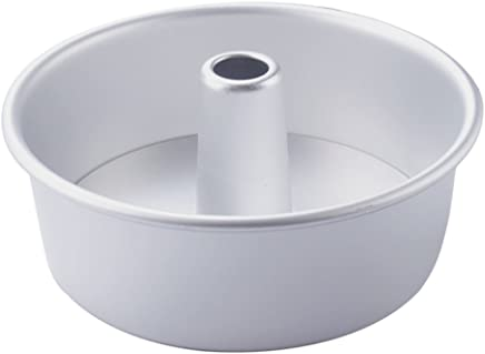 "Prettyia Round Angel Cake Pan Baking Decorating Aluminium Tin with Heat Core 6"" 8"" - Silver, 6 inch"