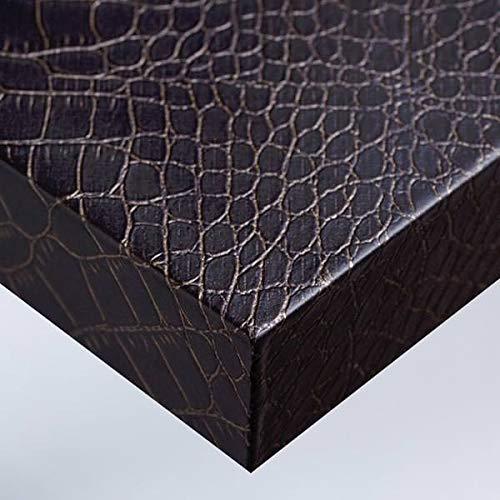 Dimexact Película Adhesiva Decorativa Muebles y Paredes con Efecto Cuero y Tela, Chocolate Piel De Cocodrilo, Anchura 1,22 m, en Rollo