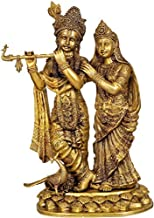 Brass Large Size Radha Krishna Statue, Height 30.5 inches I Home Décor