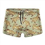 XCNGG Hyena Patterns Calzoncillos Tipo bóxer de Secado rápido para Hombres Traje de baño Shorts Trunks Traje de baño XX-Large