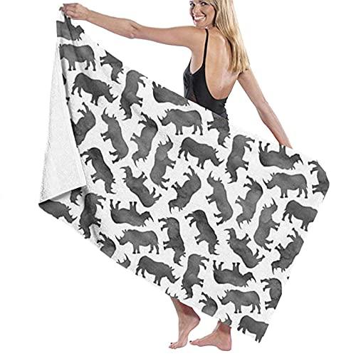 MENYUAN Toalla de playa suave de cerdo, microfibra de poliéster, absorbente de 32 x 52 pulgadas, toalla de baño de personalidad, toalla de baño Qui secado de playa, toallas de baño de gran tamaño
