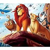 Kingkoil Pintura De Diamante Círculo Cuadrado Diamante Bordado Lion King Cross Stitch Mosaic Fawn Ba...