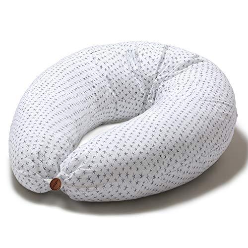 Niimo Cojin Lactancia Bebe y Almohada Embarazada Dormir XXL Multifuncion Funda Cojin 100% Algodon Desenfundable y Lavable Relleno de Poliester Multiusos Maternidad (Estrella de Mar)