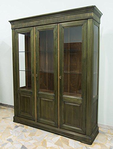 Ebanisteria Gambella - Librería verde con tres puertas