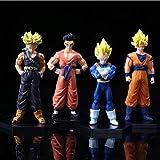 Modello di Statua Anime4 Pezzi/Set Dragon Ball Z Goku Vegeta Trunks Yamcha Anime Action Figure Collezione PVC Figure Giocattoli Collezione 15 Cm