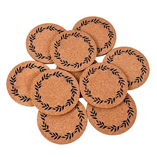 JF-XUAN 10x Corcho Posavasos Ronda Estera de la Taza for el hogar Restaurante Oficina de sobremesa Antideslizante
