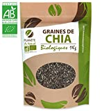 Sachet de 1kg Graines de Chia Biologique Salvia hispanica Prendre 15 grammes. Se consomme tel quel, réhydraté, mélangé à un yaourt, compote, pâtisserie, ou salade.