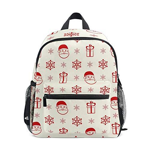Mochila para niños y niñas Mini Mochila Bolsa de Viaje con Clip para el Pecho Santa