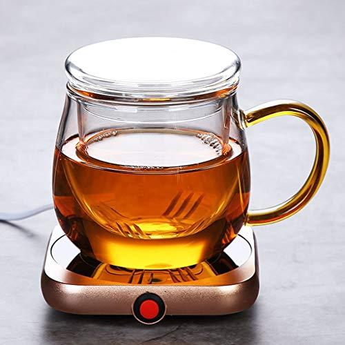 Elektrische Tassenwärmer Pad,Warm Cup 55 Grad Heiße Milch Kaffee Selbsterhitzung Cup Büro Konstante Temperatur Heizung Coaster Heizung Isolierung Unterseite Mit Cup (Color : Figure 9+Cup)