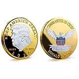 LIOU Donald Trump 2020 Zwei Ton Gold Kopf Münze Silber Überzogene Gedenkmünze Halten Amerika Große Herausforderung Münzen Neuheit Münze Politisches Geschenk