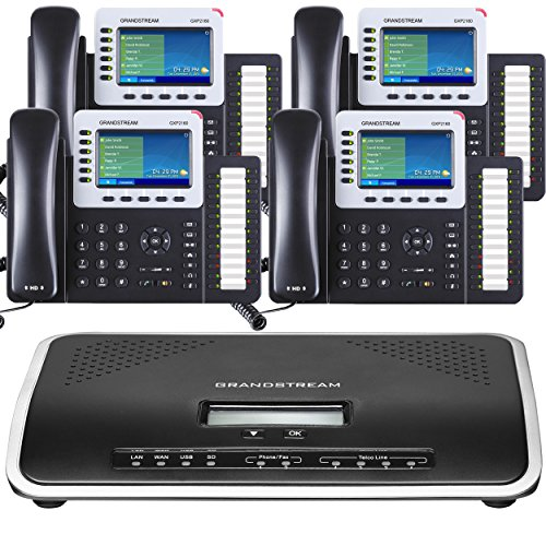 Business Phone System by Grandstream Ultimate Pack: Including Auto Attendant, Voicemail, Cell &...