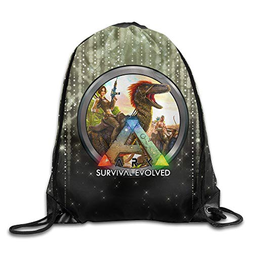 YuYfashions Ark Survival Evolved Icon Drawstring Backpack Sport Bag Beam Mouth Package A2227 Mochila con Lazo