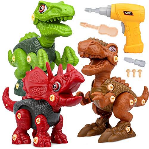 Dinosaurios Juguetes con Taladro Eléctrico