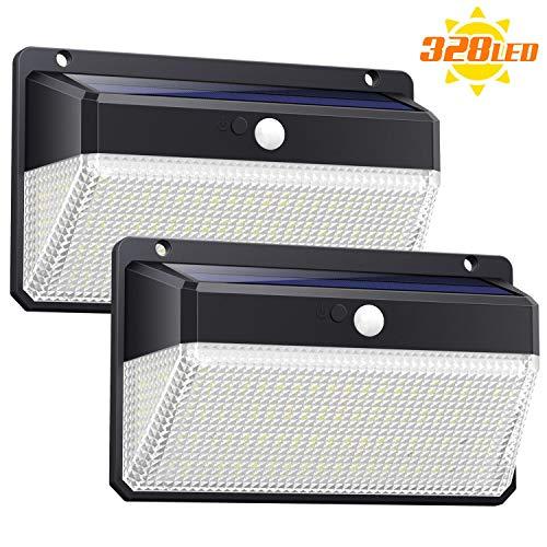 Ekrist Luz Solar Exterior 328 LED Luces Solares【3000lm-má