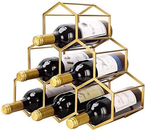 GLYYR Weinregal Freistehende Metallweinträger, Diamant-Arbeitsplatte Flasche Rack Aufbewahrung ideal für Barweinkellerschränke und Speisekammer
