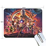 The Avengers Gaming Mouse Pad Non-Slip Rubber Mousepad 11.81 X 9.84 inches Rectangle Mouse Mat Smooth Surface Mouse Pads