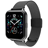 Smart Watch for Men Women Yohuton Fitness Tracker with IP67 Waterproof for Android iOS, Smartwatch with 1.54' Touch Screen Pedometer Heart Rate Sleep Monitor Weather Forecast