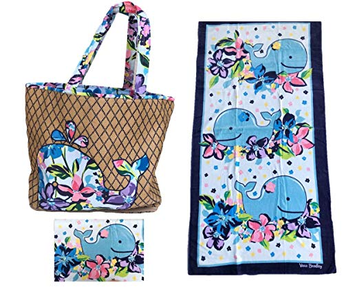 Vera Bradley Whale Marian Floral Beach Tote and Towel