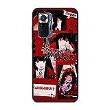 Coque fine en TPU pour Xiaomi Redmi Note 10 Pro-Anime-Kakegurui Jabami-Yumeko 2 Noir mat