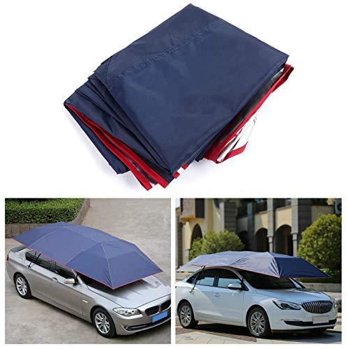 Sombrilla para el sol Carpa Durable Antidesgaste Auto Sombrilla Paraguas portátil para proteger el automóvil para picnic para pescar(Navy blue)
